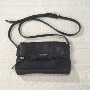 kate spade ♠️ Navy Leather Crossbody Pure